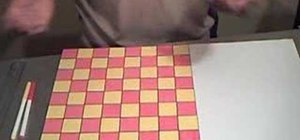 Make a homemade fridge checkers game