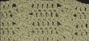 Crochet a cluster shell