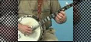 Play two finger chords on the banjo
