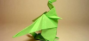 Fold an origami paper dragon