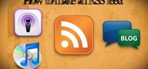 Create an RSS feed using XML code and RSS Builder