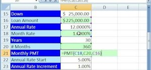 Use a data table for what-if analysis in Excel
