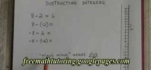 Subtract integers
