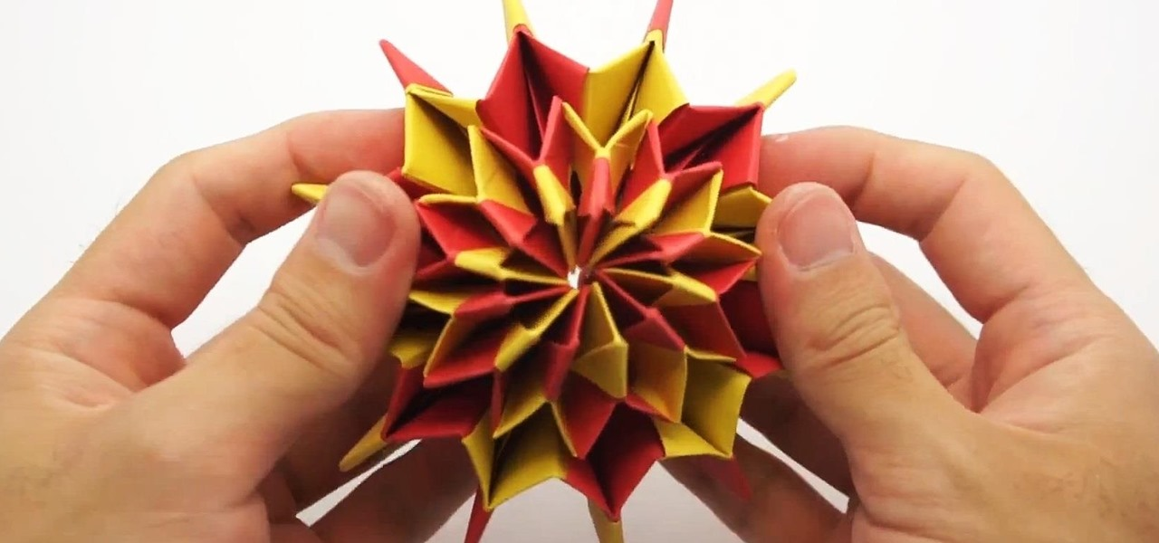 Make Colorful 'Fireworks' Using Origami Paper