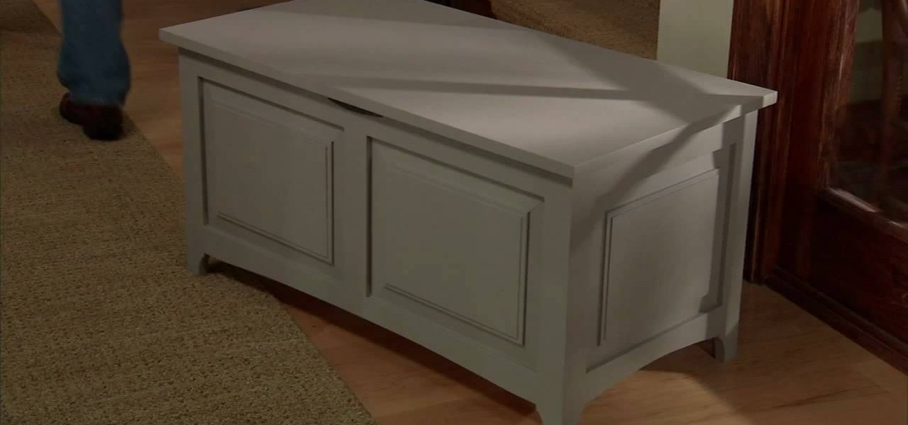 How to Build a storage chest with Lowe s   Furniture   Woodworking     WonderHowTo. How to Build a storage chest with Lowe s   Furniture   Woodworking