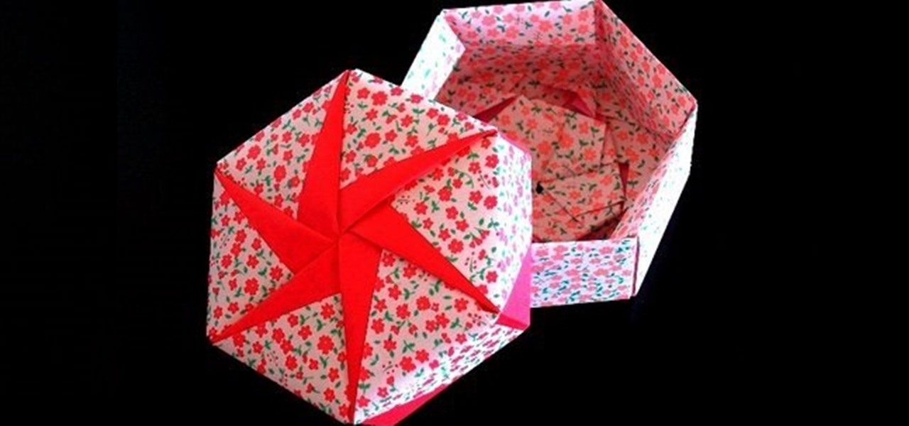 How To Make A Hexagonal Origami Gift Box Origami Wonderhowto