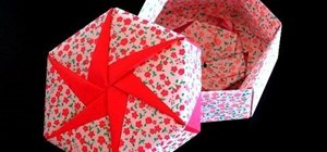 Make a hexagonal origami gift box