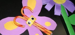 Make a candy butterfly with your kids