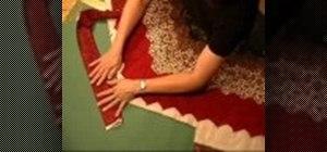 Finish  irregular quilt edges