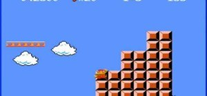 Skip the level end flagpoles in a Super Mario Bros. TAS