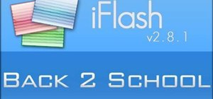 Use iFlash on your Mac computer to make flashcards as study aids
