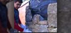 Install stone veneering
