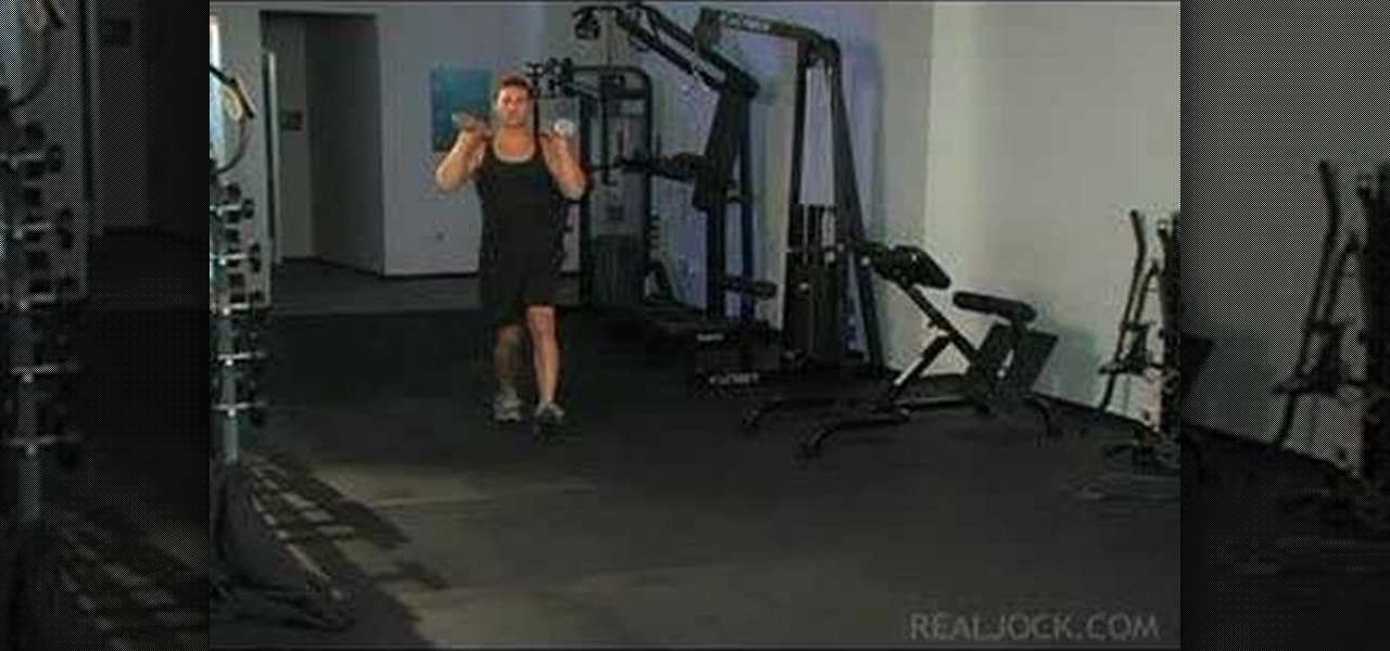 How to Do dumbbell walking lunges « Weights :: WonderHowTo