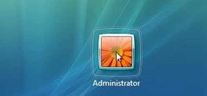 Enable the administrator account on Windows Vista