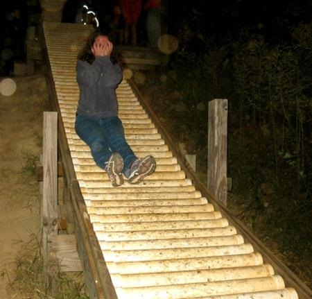 Roller Slide on a Farm