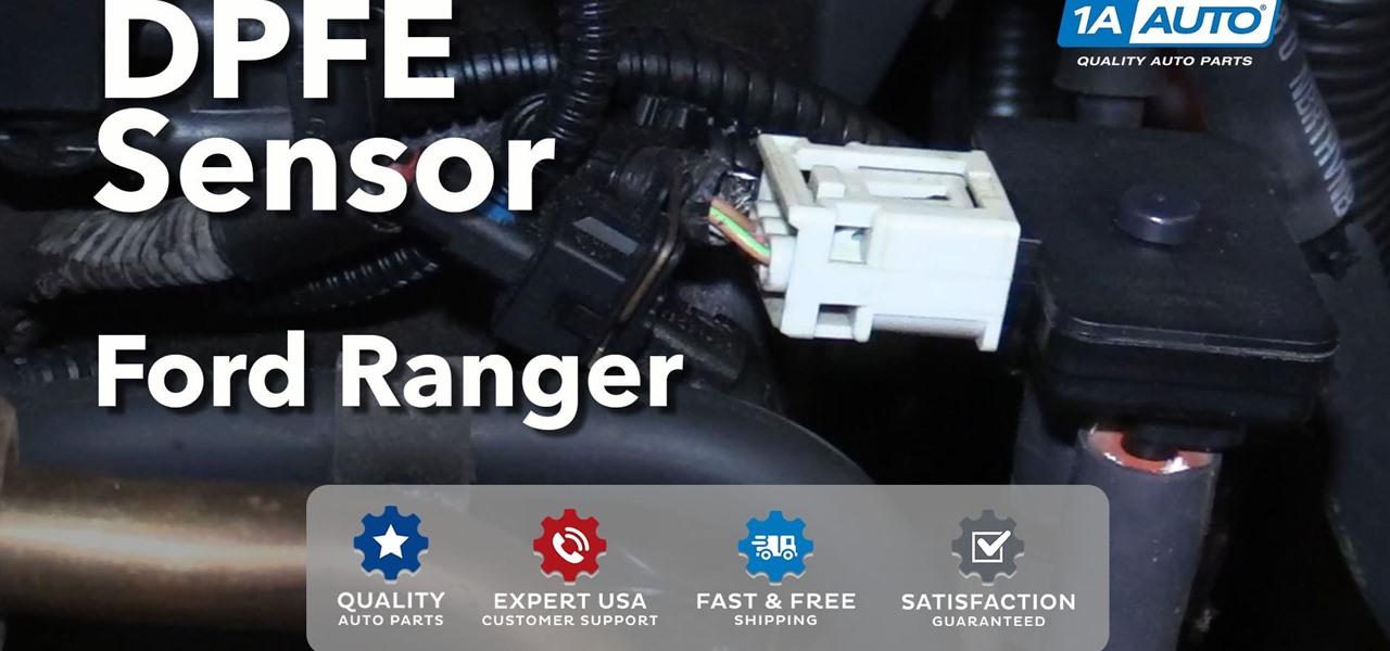 how to replace the egr pressure feedback sensor dpfe 2001 02 on a ford ranger v6 4 0l auto. Black Bedroom Furniture Sets. Home Design Ideas