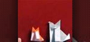 Origami a puppy dog