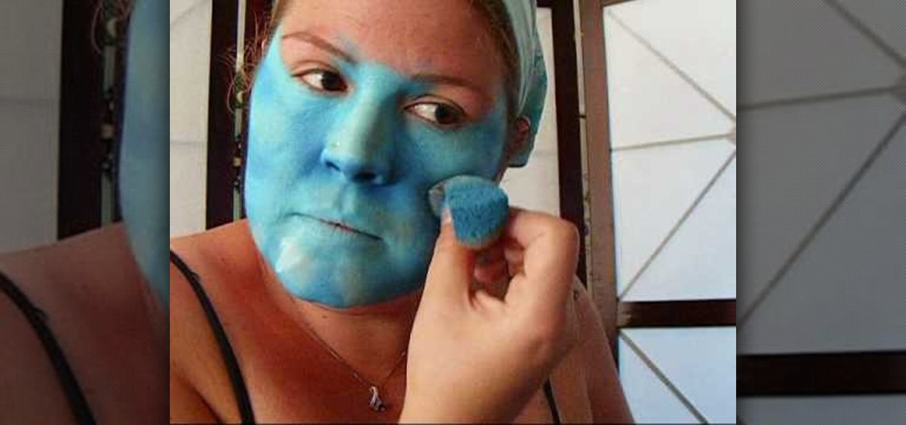 How to apply avatar inspired face paint kids activities for How to apply face paint