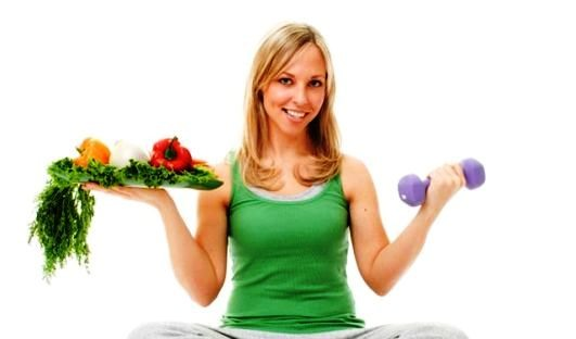 Health fresh food + Exercise = key to Perfect health