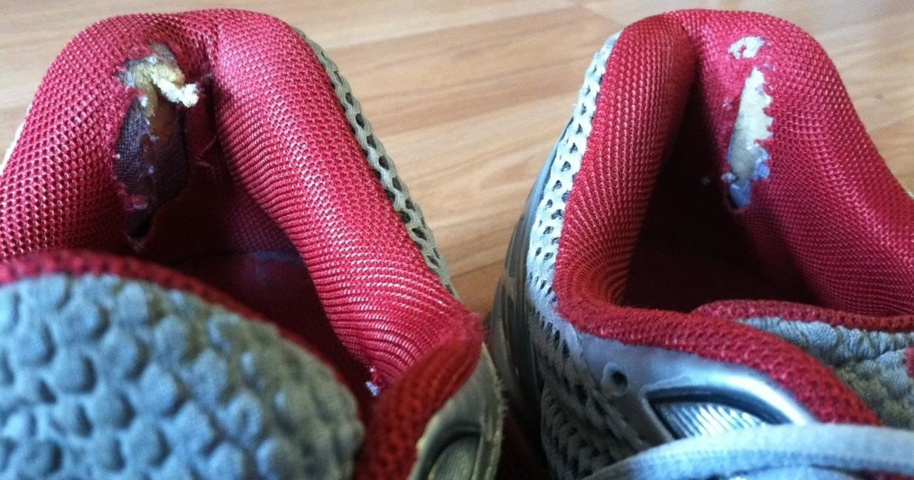 How To  Fix the Worn Out Heel Linings in Your Ragged Shoes    Sneakers—MacGyver Style! a7c80358f