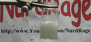Make sodium silicate from drain cleaner and gel beads