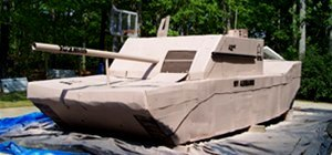 Build Your Own Life-Sized Army Tank Out of Cardboard & More