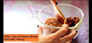 Make homemade peanut butter and banana nut granola bars