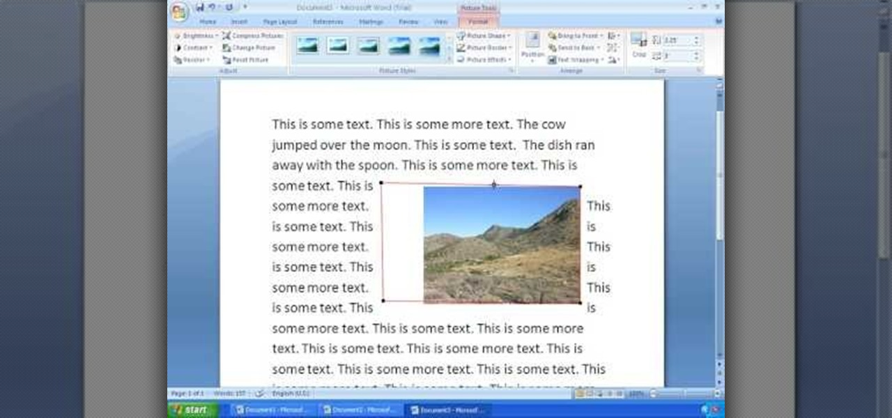 how to write on pictures in microsoft word 2010