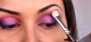 Use pink & teal eyeshadows to create a new look