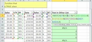How to Compare two lists in Excel with match, join and