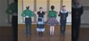 Square dance the Cross Run, Left Swing Thru, Separate
