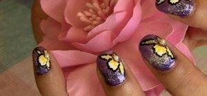 Create an exotic Cattleya orchird nail look