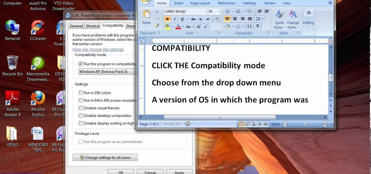Check or Set Program Compatibility to Run Old Software in New Version of Windows (OS)
