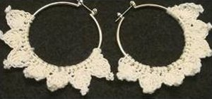 Make a fashionable crochet hoop earring for left handers