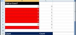 Count only even or odd numbers in Microsoft Excel