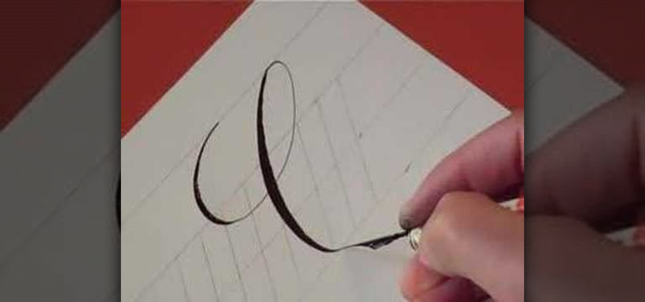 How To Write The Letter C In Calligraphy Copperplate