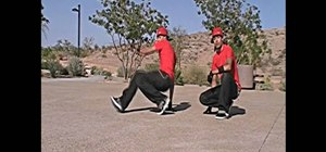 Performthetwo step (baby swipe) for breakdancing