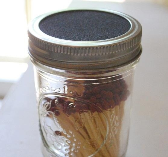 Start Fires in Style with a Glass Matchjar, Plus 9 More Clever Uses for Mason Jars