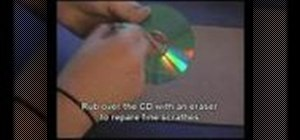 Repair CDs and DVDs with an eraser