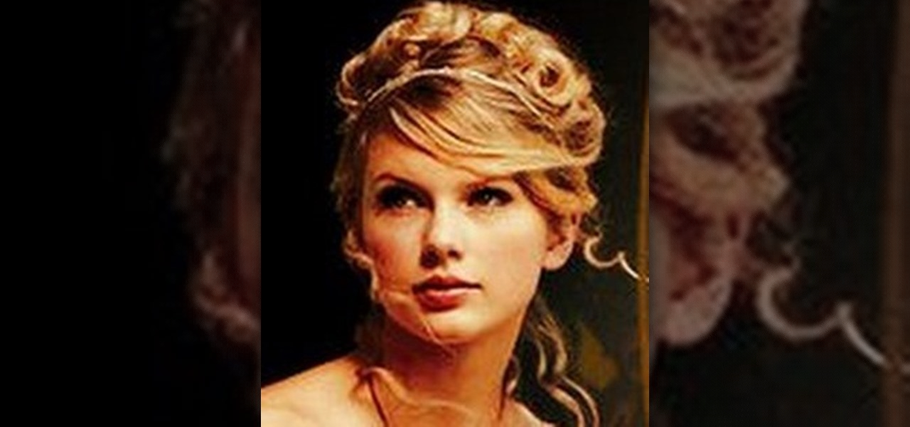 how to get taylor swifts pretty love story updo hairstyle