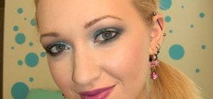 Create a smoky green Greek goddess makeup look