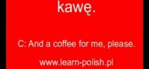 Order coffee in Polish
