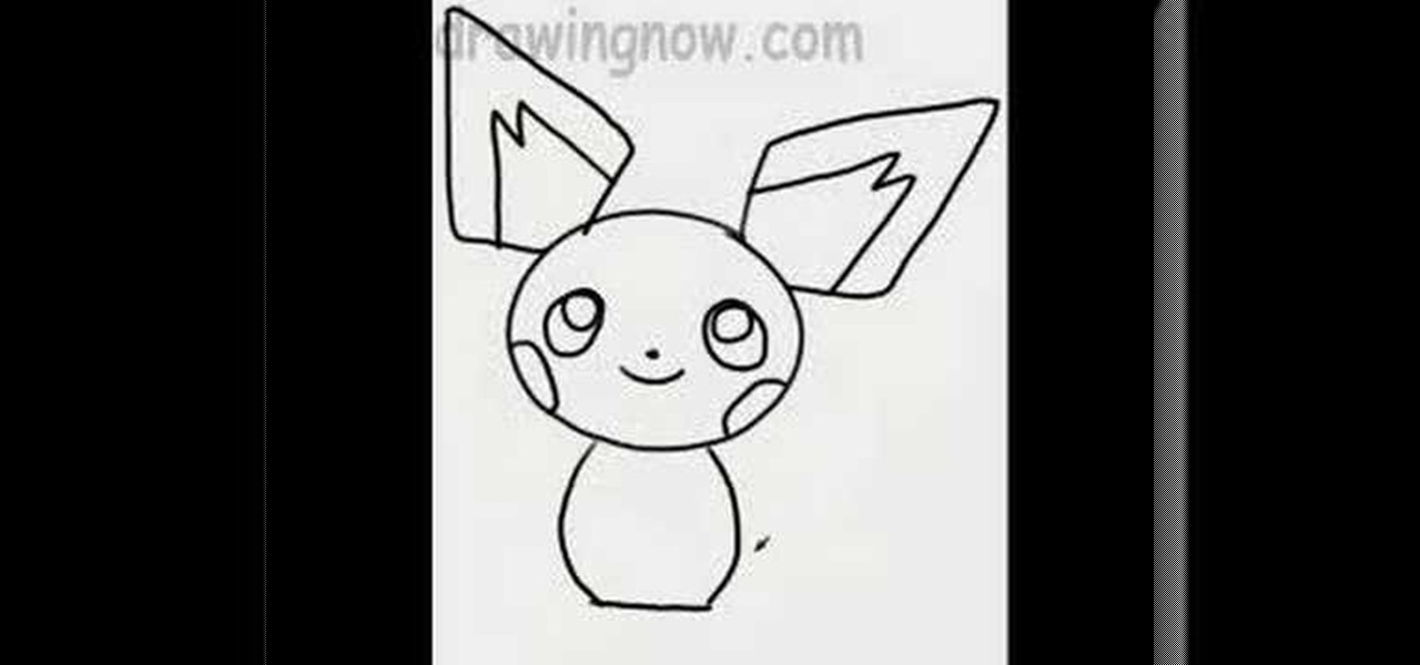 How To Draw Pichu The Pokemon Drawing Illustration WonderHowTo