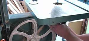 Change the blade on a bandsaw