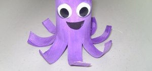 Make an easy toilet paper roll octupus