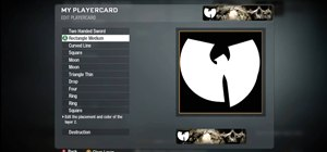 Draw the Wu-Tang logo in the Call of Duty: Black Ops emblem editor