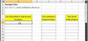 Make a list in Excel which only contains unique values
