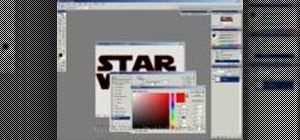 Create a Star Wars-style logo in Adobe Photoshop