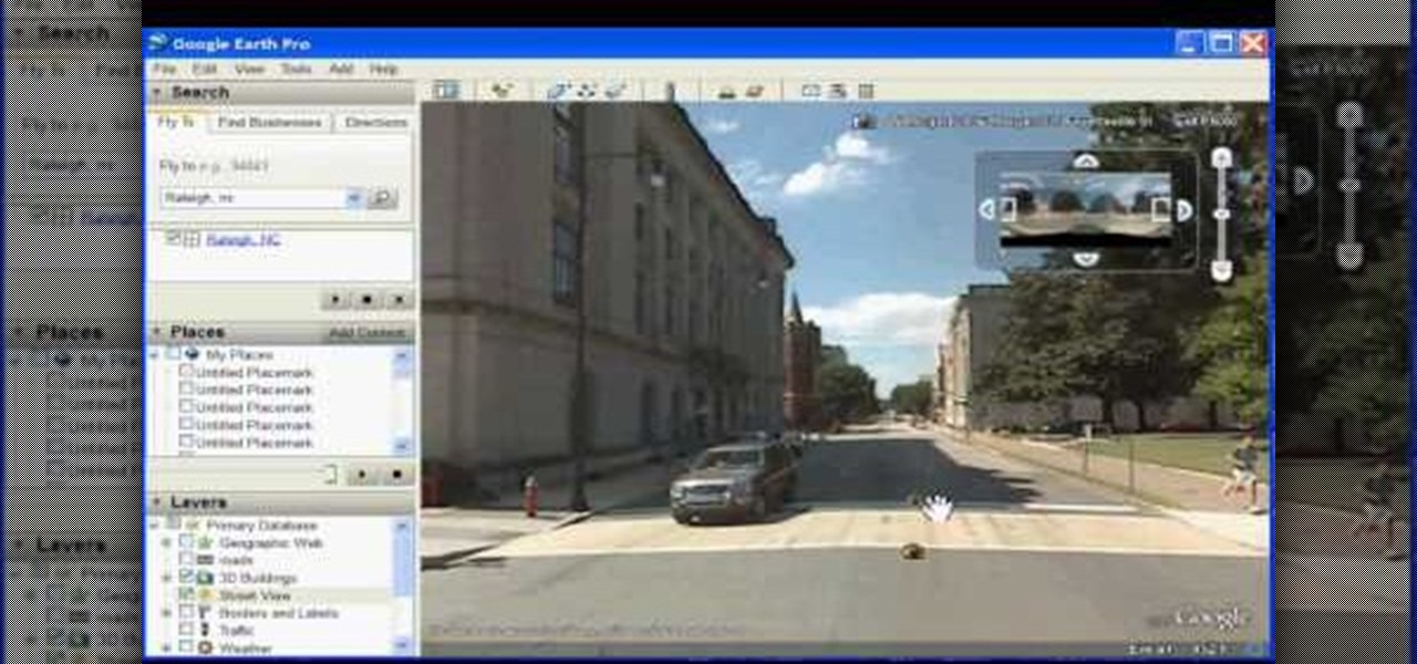 how to look around 3d view google maps