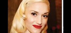 Create a Gwen Stefani inspired pin-up hairstyle